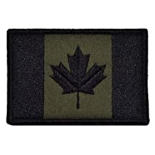 Canadian Flag Canada Maple Leaf 2x3 Military Patch / Morale Patch - Olive Drab