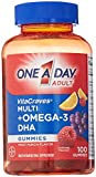 gummy vitamins with omega 3 - One A Day VitaCraves Multivitamin Gummies Plus Omega-3 DHA, 100 Count
