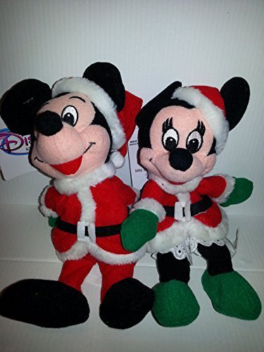 Disney Bean Bag Santa Claus Mickey Mouse and Mrs. Clause Minnie Mouse Limited Edition Set]()