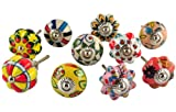 Set of 10 Multicolor hand painted ceramic pumpkin knobs cabinet drawer handles pulls