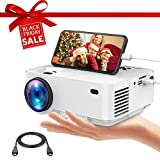 Office Products : Movie Projector, DBPOWER Portable Mini Projector 2400lux with OSD Technology Directly Synchronizing Smart Phone Screen,176'' Display, 1080P/HDMI/VGA/USB/TV Box/Laptop/DVD/External Speaker Supported