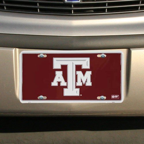 Texas A&M Aggies Maroon Metal License ()