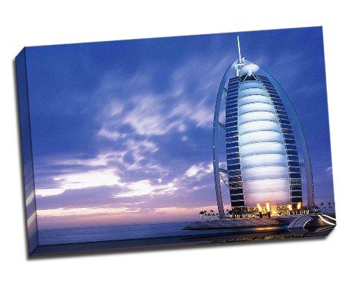 Panther Print Burj Al Arab Jumeirah Dubai Canvas Art Print Poster 30