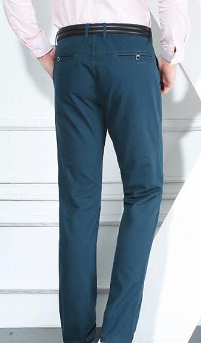 Xswsy XG Men Comfort Fitted Straight Leg Flat-Front Trousers Dress Pants