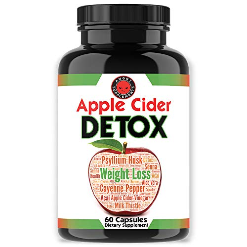 Angry Supplements Apple Cider Detox, Weight Loss Cleanse for Men and Women, Maximum Strength Formula for Improved Digestion, Heart Health, Best All-Natural Diet Aid (1-Bottle)