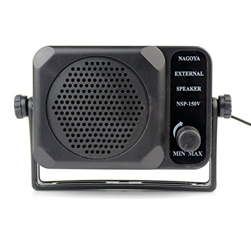 Braudel Mini Adjustable Volume External Speaker,3.5mm Jack - External CB Speaker,For Motorola/Kenwood/Yaesu/Midland/Icom/HYT/Mobile Transceiver,CB Radio