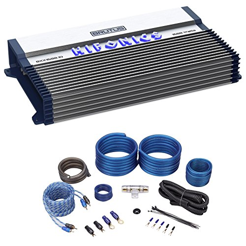 Hifonics BXX1600.1D 1600 Watt RMS Mono Car Amplifier Class D Brutus+Amp Kit (Mono Watt Amplifier 1600)