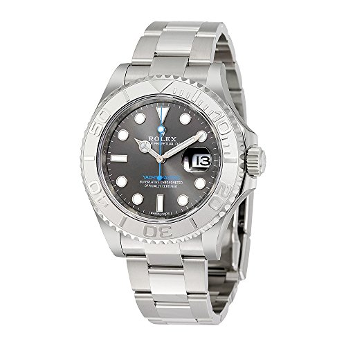 Platinum Rolex Watches (Rolex Yacht-Master 40 Dark Platinum Dial Steel Oyster Mens Watch 116622DPLSO)
