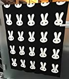 Brandonn Fashions Rabbit Knitted Baby Blanket 100cm x 80cm (Black & White)