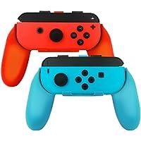 Sonolife Soporte Grip para Controles Joy con de Nintendo Switch - Colores en Azul y Rojo para Derecha e Izquierda