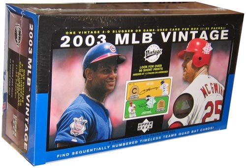 2003 Upper Deck Vintage Baseball HOBBY Box - 24P8C