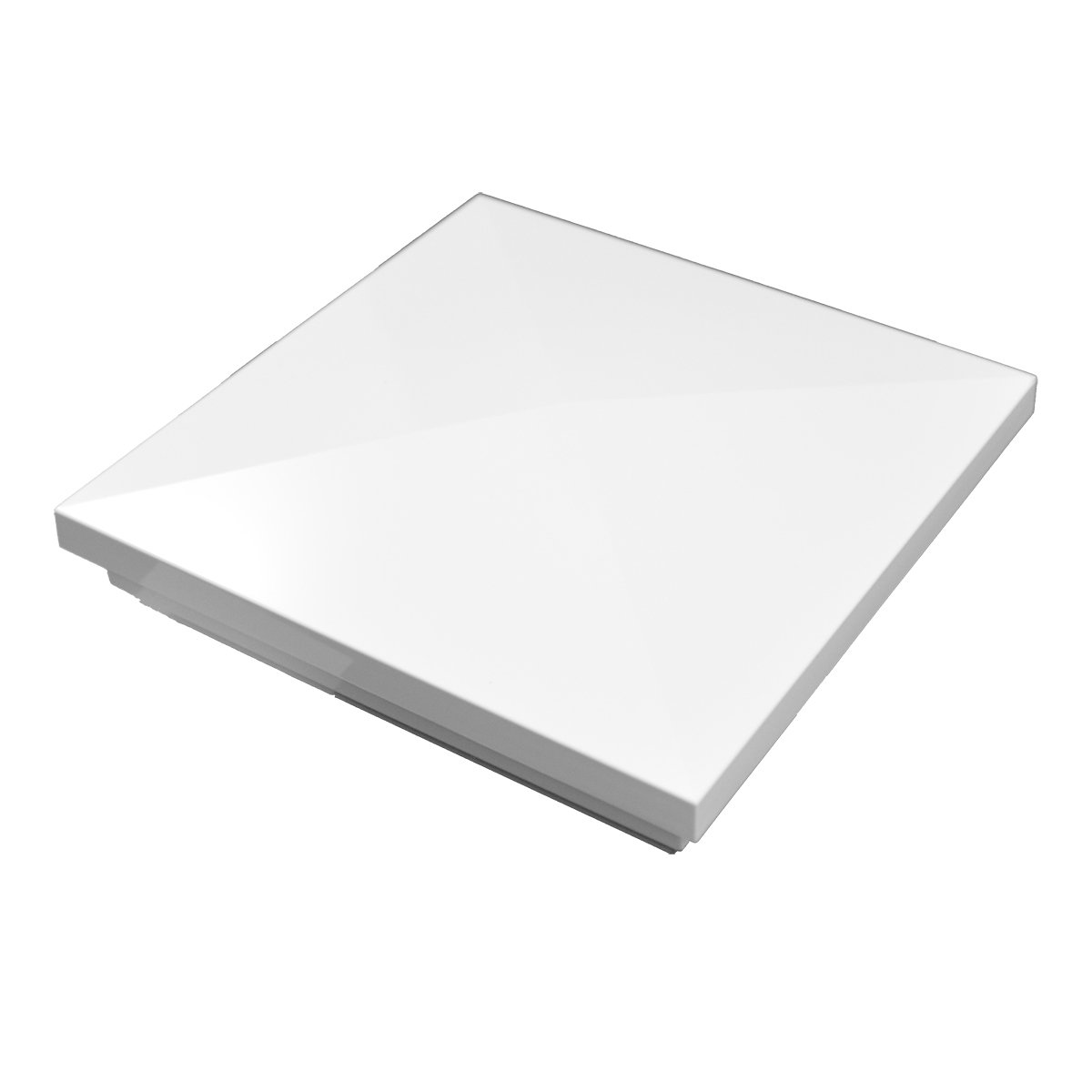 WEATHERABLES Durable White PVC Vinyl New England Post Cap For A True 6 Inch X 6 Inch Post | Single Pack | AWCP-NEWENG-6