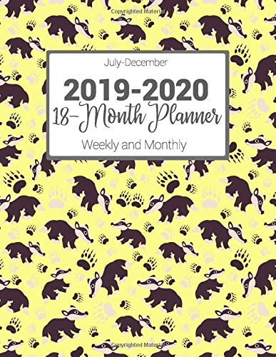 Amazon.com: July-December 2019-2020 18-Month Planner Weekly ...