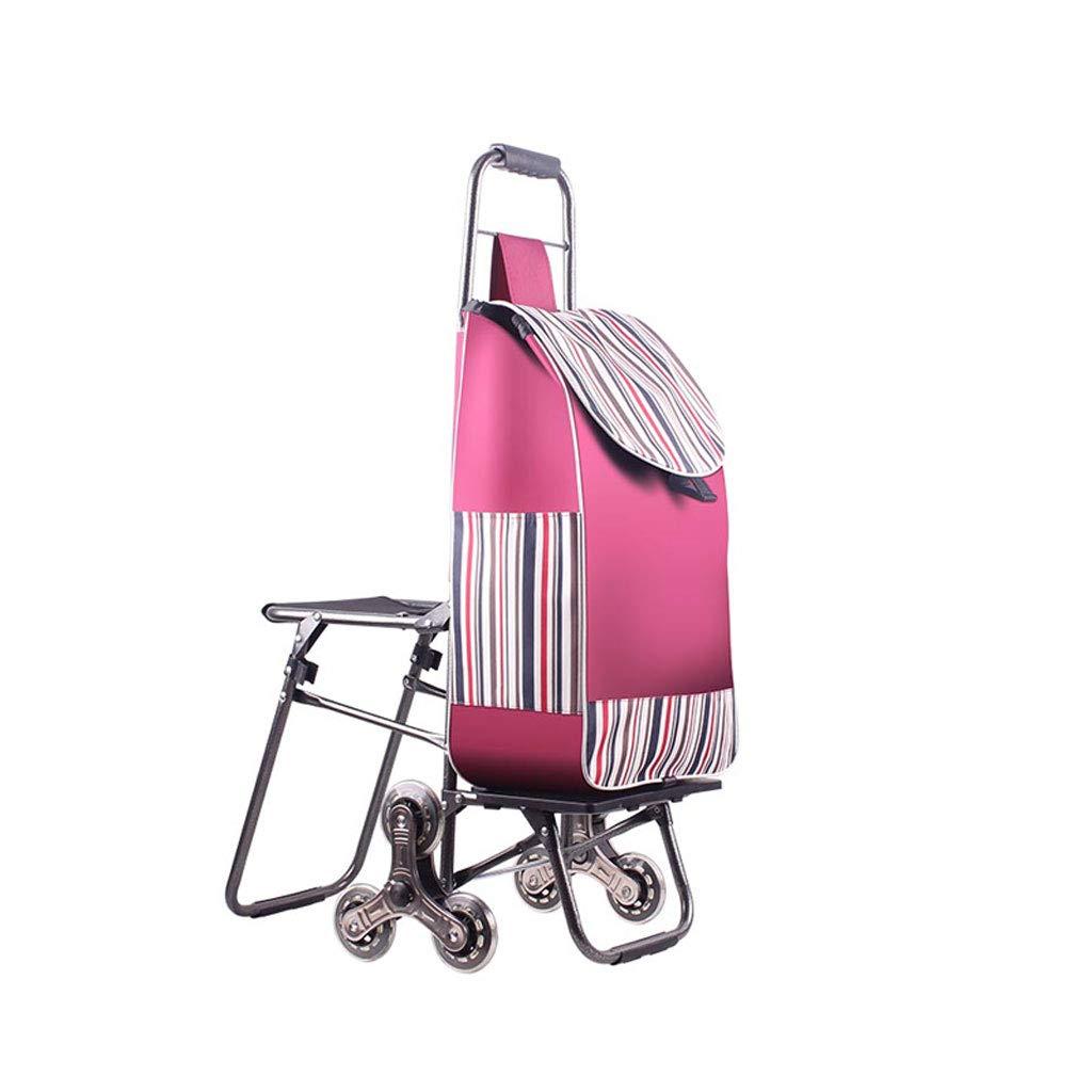 ショッピングカート ショッピングトロリー 折りたたみ可能なショッピングカート ショッピングバッグ 荷物カート 座席付き ポータブルショッピングトロリー 食料雑貨品カート   B07K5984XG