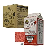 Box of 4 X 3.25 lbs Cotton Candy RED CHERRY Floss Sugar