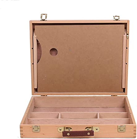 JI BIN-HJ Caja Portátil para Pintar Al Óleo, Caja De Herramientas para Suministros De Arte En Madera, Caja para Bocetos Portátil 42x33x8.5cm: Amazon.es: Hogar