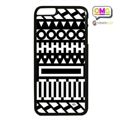 cover iphone bianca e nera