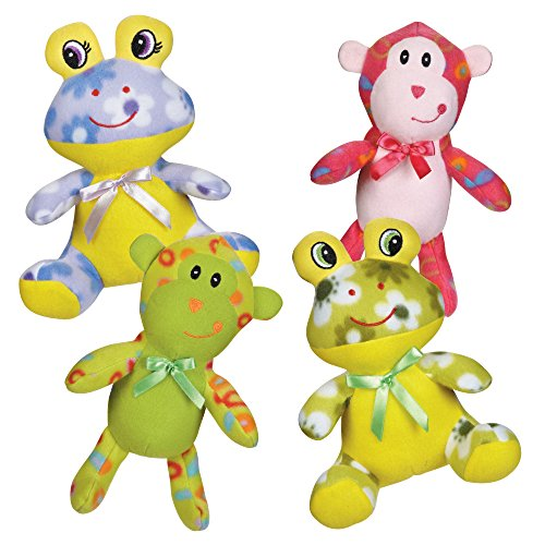 Zanies Fleece Cuddlers Dog Toys 80 Piece Refill Multi Style