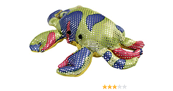 Sand Filled Stuffed Animals, Amazon Com 4 5 Inch Sand Filled Rainbow Glitter Plush Crab Toy Paperweight Toys Games