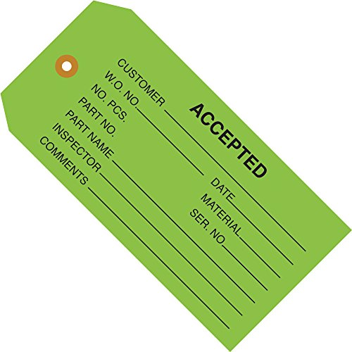 Green Inspection Tags,