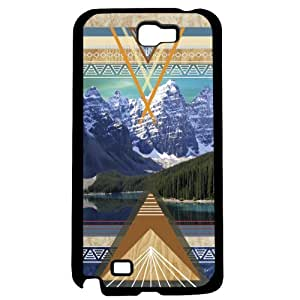 Spring in the Mountains with Color Artistic Aztec Pattern Wood Hard Snap on Phone Case (Note 2 II)