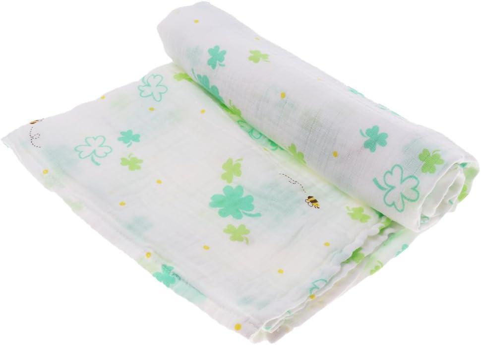 gelbe Ananas P Prettyia Baby Wickeln Decke Weichen Musselin Baumwolle Swaddle Handtuch Mullwindeln Spucktuch Mullt/ücher Stoffwindeln