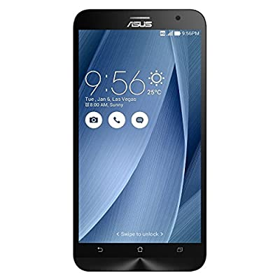 "ASUS ZenFone 2 GSM Unlocked Smartphone 4GB Ram, 64GB, 5.5"" HD LCD - Glacial Gray (Certified Refurbished)"
