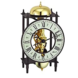 Qwirly German Mechanical Skeleton 8-Day Table Clock BONN by HERMLE, 23001000711