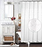 WestWeir Shower Curtain - Rose Clusters Embroider 72' x 72' White
