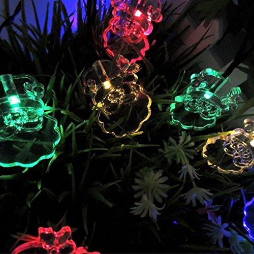 Solarbetriebene Wasserdicht Dekor Lichterketten, 4.8M 20 LED-Weihnachtsmann -Weihnachtsbäume beleuchtet Lampe für Dekorieren Sie Ihre Haus, Garten, Hochzeit (5 M, 20 Santa Claus, RGB)