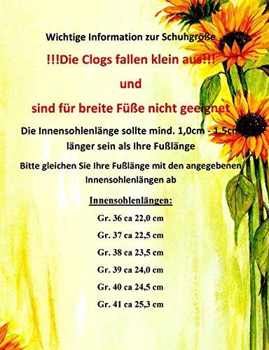 ACO Damen Clogs & Pantoletten mit Absatz Hausschuhe Arbeitsschuhe Weiss Gr. 36-41 Weiss / Hellblau