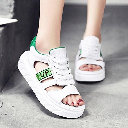 colore Donna 38 Scarpe Grossa Zcjb Taglia Fondo Sportive Studenti Stile2 Stile1 Sandali Estive Casual Piatto AqZpBwnSn