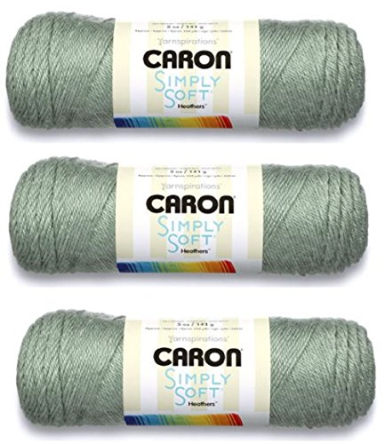 Caron Simply Soft Yarn Solids (3-Pack) With 2 Caron Simply Soft Patterns (Woodland - Acrylic Woodland Green