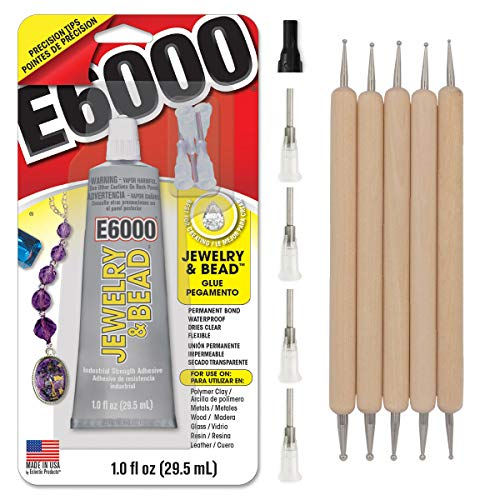 E6000 1-Ounce Jewelry and Bead Adhesive with 4