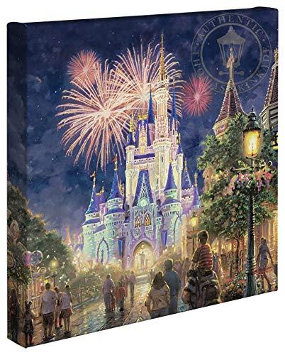 Thomas Kinkade Studios Main Street U.S.A., Walt Disney World 14 x 14 Canvas Wrap