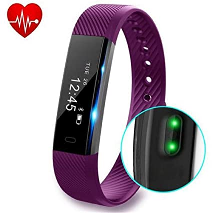 ZZXXCC Relojes Fitness Pulsera Monitor De Ritmo Cardíaco Smart Band Fitness Reloj Podómetro