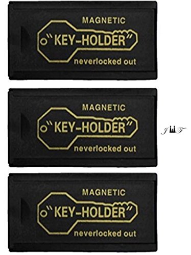 3 Piece Value Pack 3 Inch Plastic Magnetic HIDE-A-KEY HOLDER. Lock Box, Key- Holder Ideal to Store Spare Keys. For Your Vehicle, Home, Office, Storage, and Etc. (3 Piece Value Pack)
