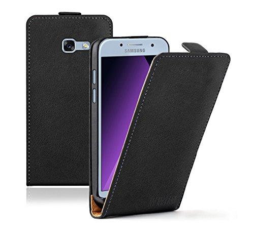 Membrane Funda Samsung Galaxy A3 2017 Carcasa Negro Ultra Slim Case Flip Cover