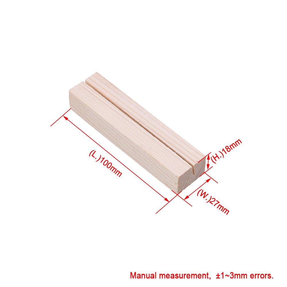 10x2.7x1.8cm N/úmeros de mesa de madera de tarjeta postal de madera de pino N/úmeros de la mesa de bodas Nombre Juego de 10