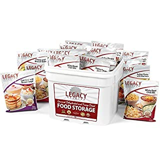 Gourmet Survival Home Food Storage - 120 Large Servings Meal Assortment: 31 Lbs Emergency Supply - Disaster Prep Freeze Dried Supply Kit - Dehydrated Breakfast, Lunch & Dinner (B00AXLOMMS) | Amazon price tracker / tracking, Amazon price history charts, Amazon price watches, Amazon price drop alerts
