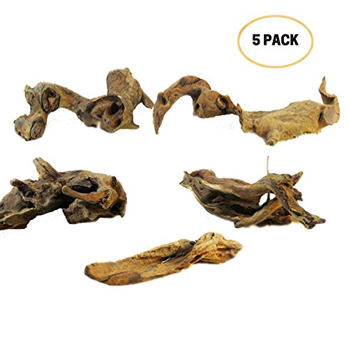 Reptile Toy,Driftwood Branches Reptiles Aquarium Decoration Assorted Size,Natural Habitat Decor Wood for Lizad (Zoomed Tortoise Food)