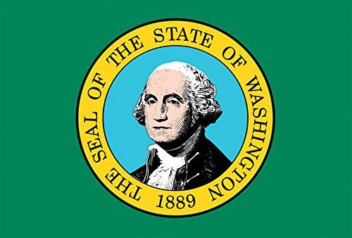 Toland Home Garden Washington State Flag 12.5 x 18 Inch Decorative USA Garden Flag