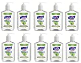 PURELL Advanced Hand Sanitizer NATURALS 12oz Pump Bottle QBiDeG, 10 Bottles