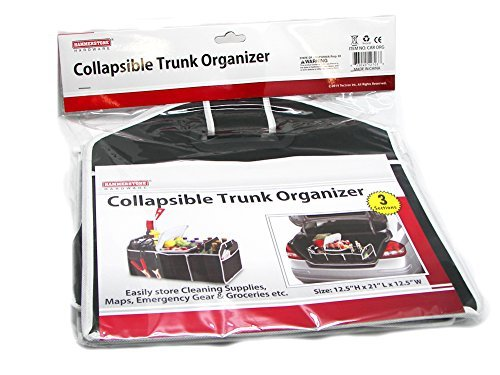 Groceries and Much More for Cars SUV Truck Dependable Industries inc 4350406442 Bottles Cleaning Supplies Emergency Geear Maps Fully Collapsible and Portable Trunk Organizer Great for Storing Tools