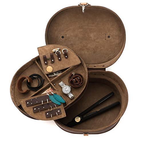 Grain Pigskin (Saddleback Leather Vintage Beauty Case - 100% Full Grain Leather Travel Organizing Box for Makeup, Jewelry and Fashion Needs with 100 Year Warranty)