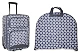 Ever Moda Chain Link Garment and Carry On Luggage Set