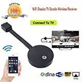 Kanzd Wifi Display HDMI 1080P TV Dongle Receiver Fits Smartphone Laptop TV LX (Black)