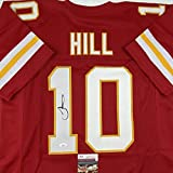 Autographed/Signed Tyreek Hill Kansas City Red