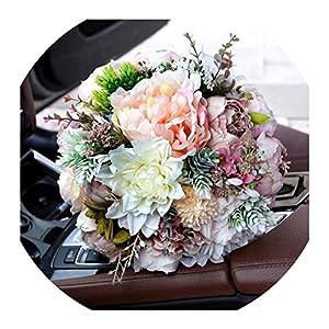 Wedding Bouquet Blush Wedding Bouquet Peony Bouquet Mauve Dusty Rose Wedding Flowers Silk Bridal Bouquet S34 89