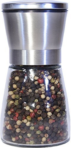 Best Salt and Pepper Grinder, Stainless Steel - Adjustable Coarseness Mill - Kitchen To Table Use Grinder - Easy to Refill Shaker - Elegant Spice Mill (Large one grinder) by Best cooks friends
